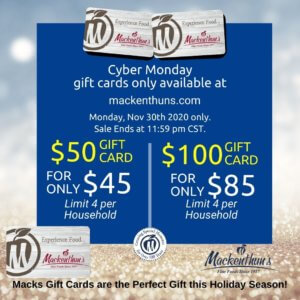 2020 Cyber Monday Gift Card Sale