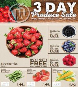 3 Day Produce Sale - July 2021